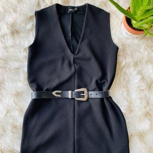 ASOS size 2 black V-neck sleeveless dress